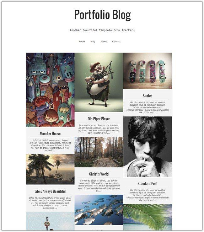 Portfolio Blog Responsive Blogger Template