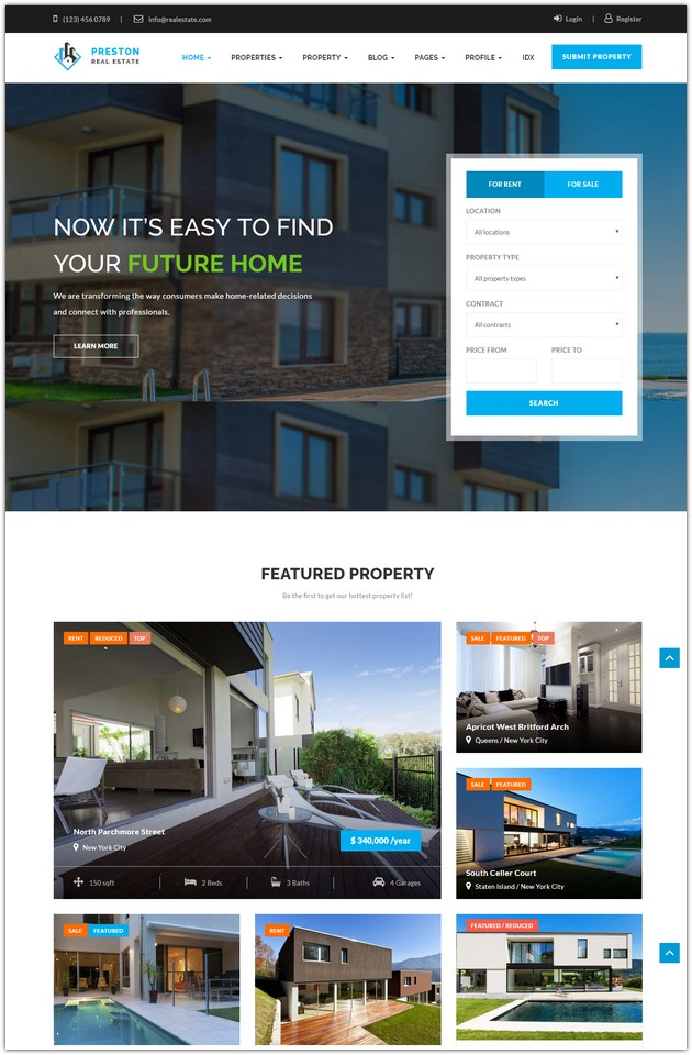 Preston - Real Estate WordPress Theme
