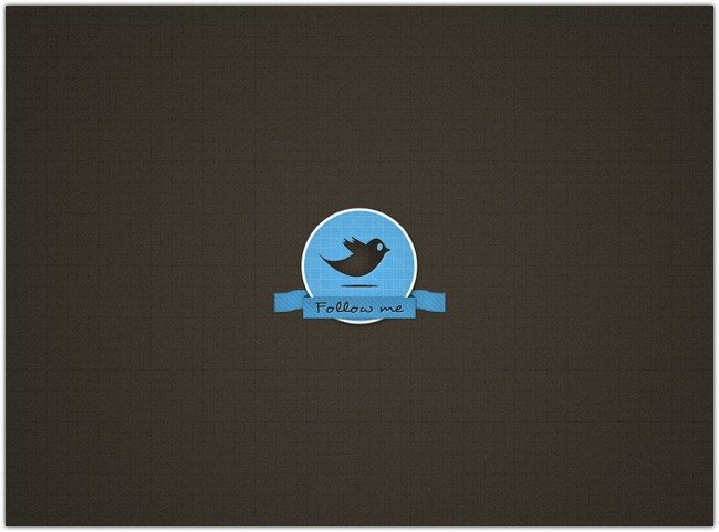 Pretty Twitter Badge