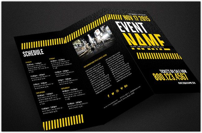 Print-Ready Event Brochure Template