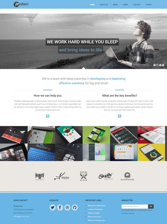 Producr - Business Folio HTML template