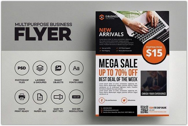 Products Sale Corporate Flyer