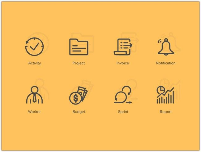 Project Management Icon Set