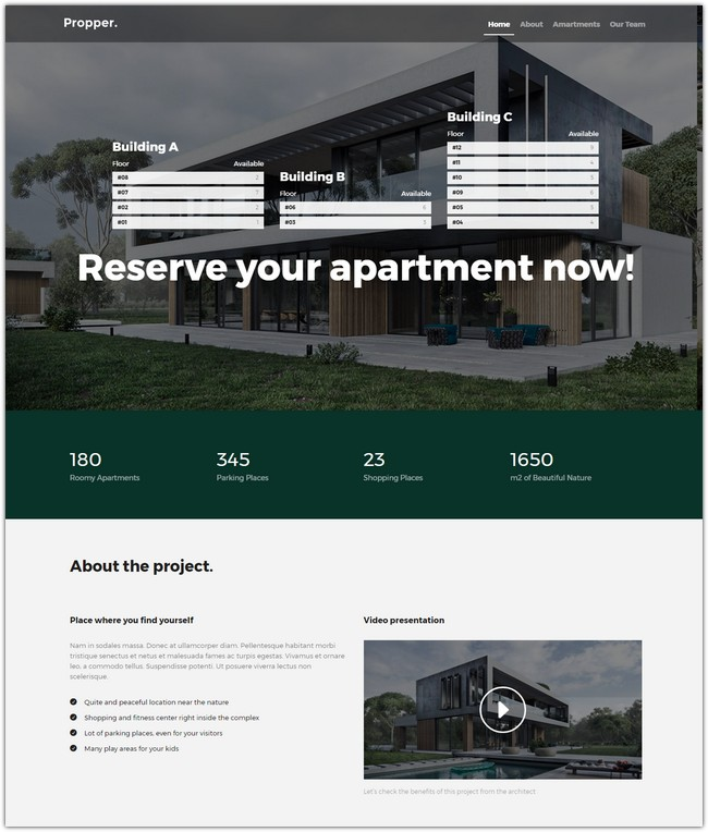 Propper - Architecture WordPress Theme