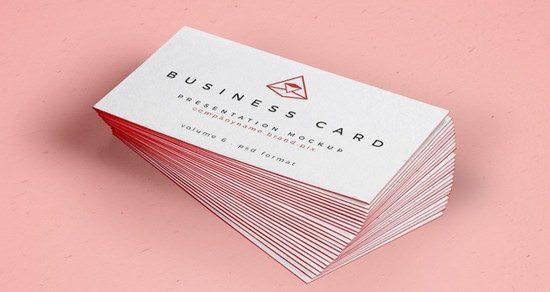 Psd Business Card Mock-Up Vol26