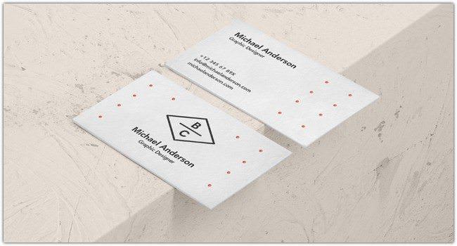 Psd Business Card Mock-Up Vol35