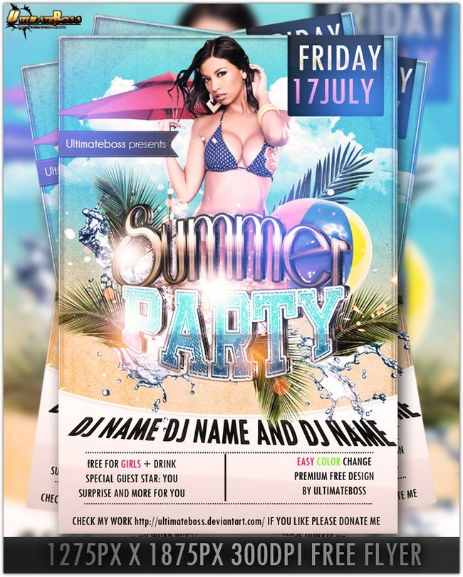 33 Free Photoshop Party Flyer Psd Templates 2018 Templatefor