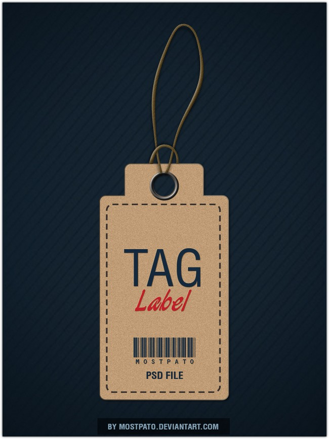 Psd Tag label