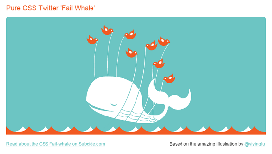 Pure CSS Twitter Fail Whale