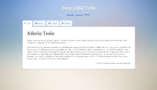 Pure CSS3 Tabs