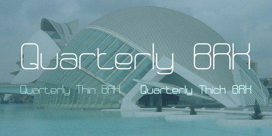 Quarterly BRK Font Family