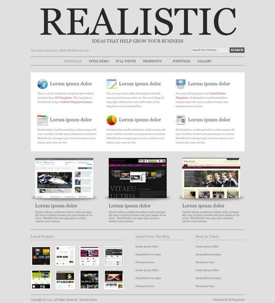 REALISTIC FREE CSS TEMPLATE