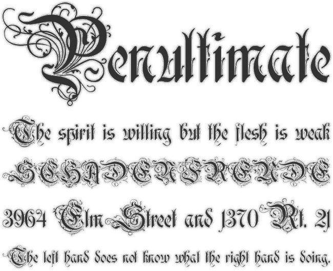 ROTHENBURG DECORATIVE font
