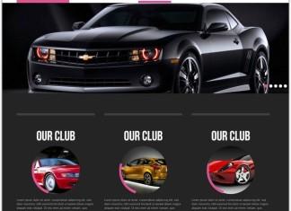 Racing automobile Mobile Website Template