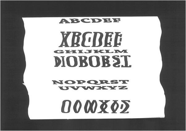 Raw Glitch Font
