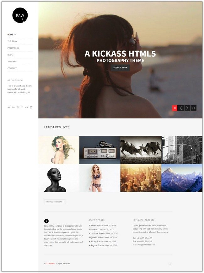 Raw - Responsive Photography HTML5 Template