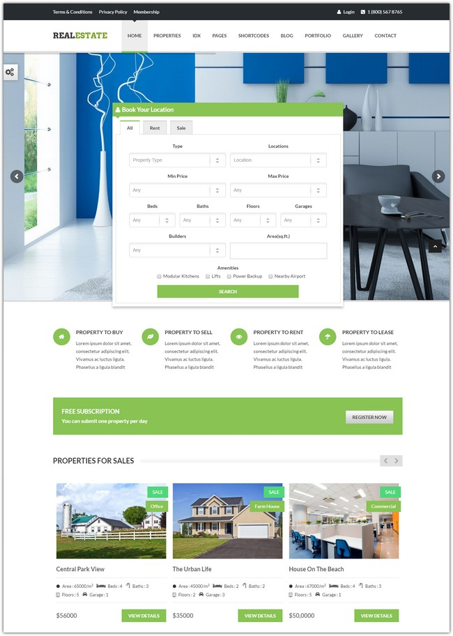 Real Estate - Responsive Real Estate Theme