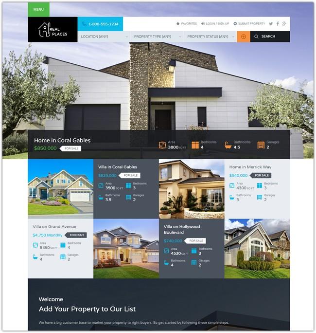 Real Places - Responsive WordPress Real Estate Theme
