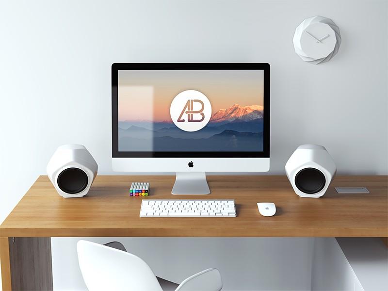 Realistic 5k iMac Mockup Vol.3