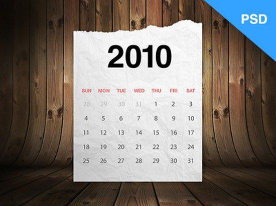 Realistic Calendar (Freebie)