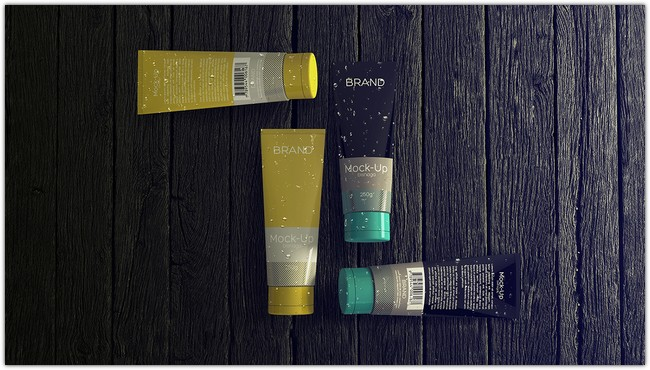 Realistic Cosmetics Packaging - Free Mock-up