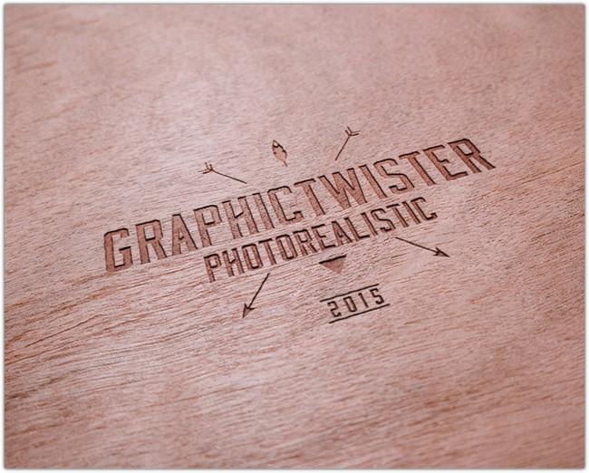 Realistic Wooden Logo Mockup Templates