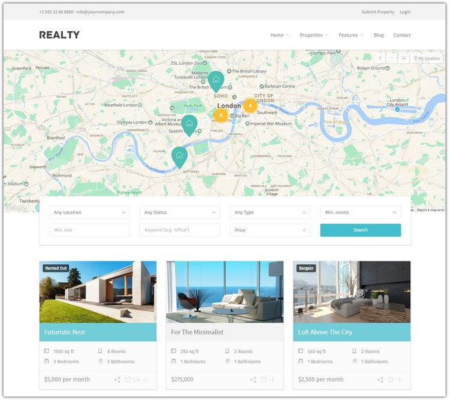 Realty - Unique Real Estate WordPress Theme