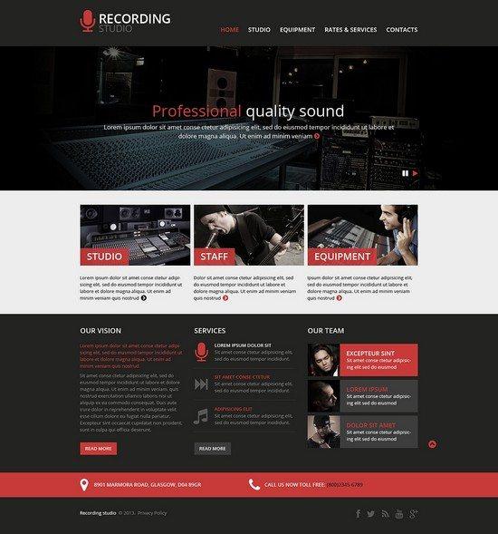Recording-Studio-Responsive-Website-Template