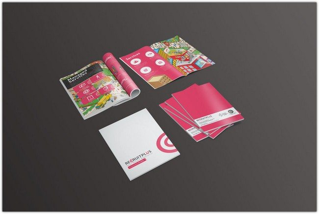Recruitplus Corporate Profile Brochure Design
