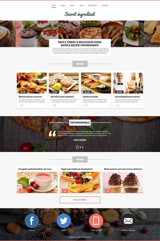 Refined Cuisine Restaurant Joomla Template