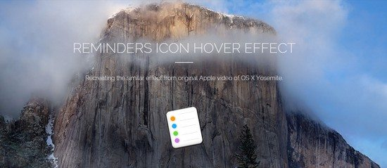 Reminders Icon Hover Effect
