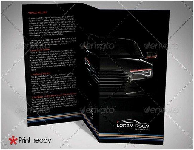 Rent a Car Trifold Brochure