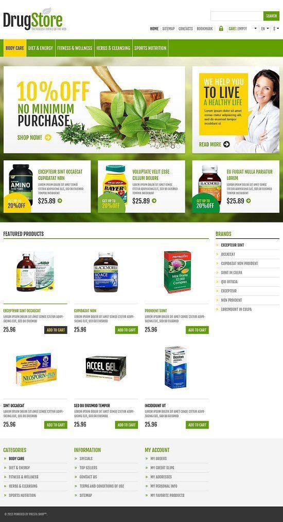 Responsive Drug Store PrestaShop Theme