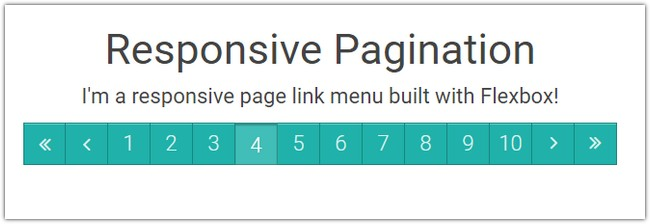Responsive Flexbox Pagination