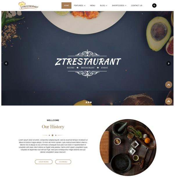 Responsive Joomla Template ZT Restaurant