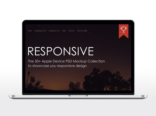 Responsive MacBook Pro Mockup
