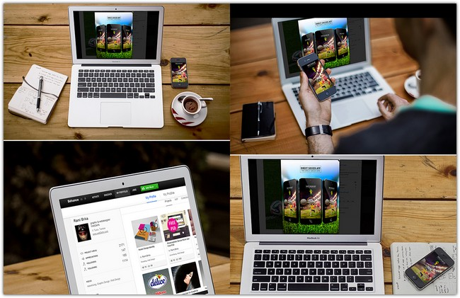 Responsive Macbook Showcase Mockup