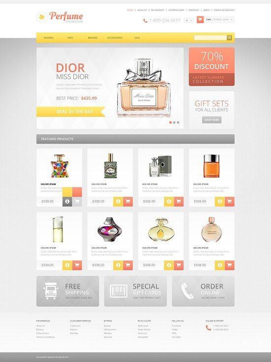 Responsive Perfumes Store OpenCart Template