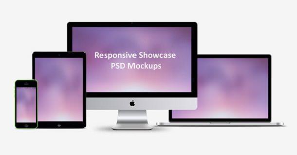 Responsive Showcase PSD Mockups