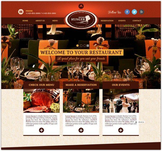 Restaurant Cafe Bar Muse Website Theme