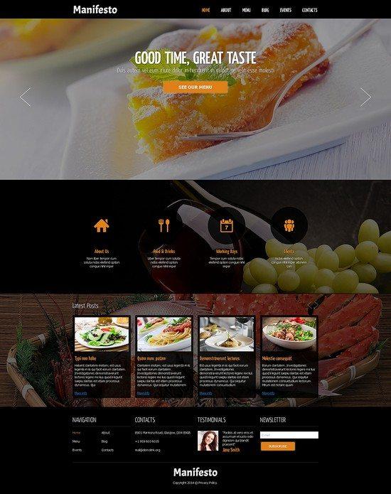 Restaurant & Cafe Responsive Joomla Template