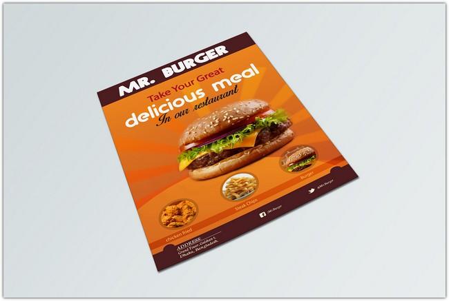 Restaurant Flyer Design Mockup