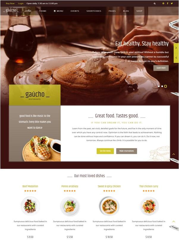 Restaurant Joomla Template And Cafe Menu - Gaucho Restaurant