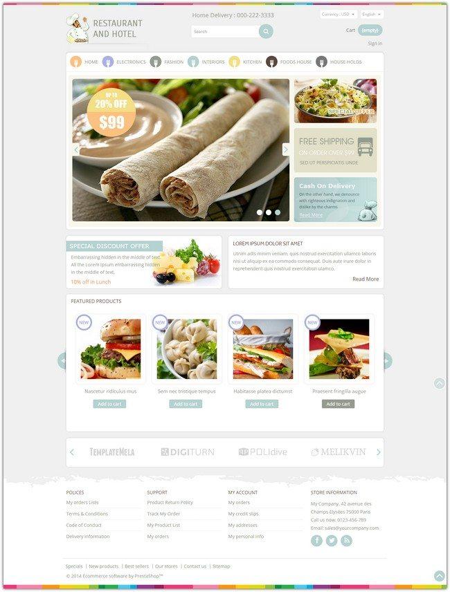 Restaurant - Prestashop Responsive Theme