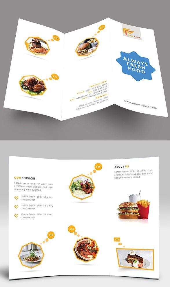 Restaurant Tri-fold brochure desgin