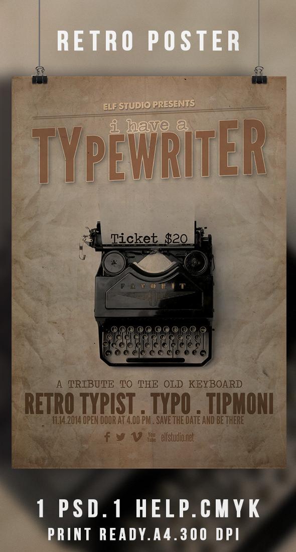Retro Flyer Poster (Freebie Template)