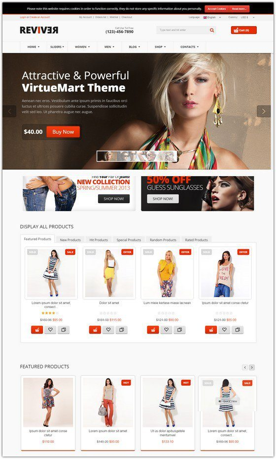 Reviver – Responsive Multipurpose VirtueMart Theme