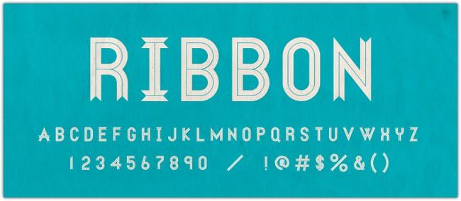 ribbon-font