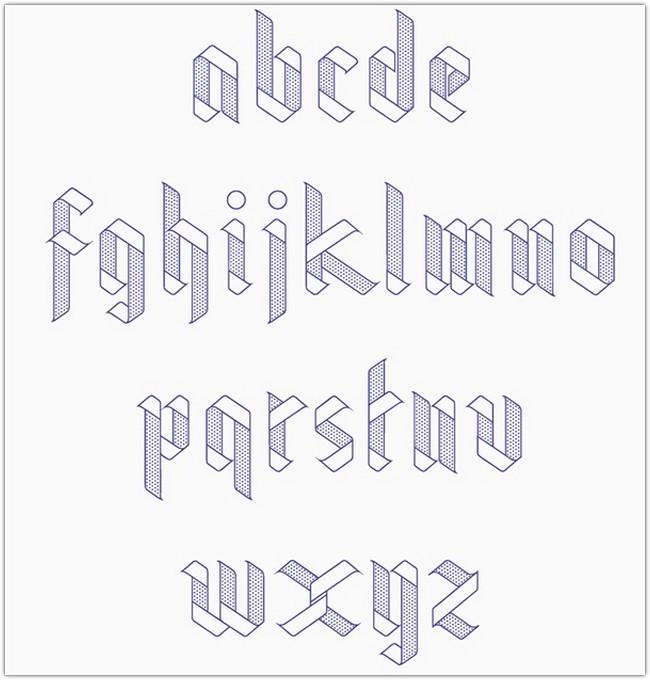 ribbon-typeface