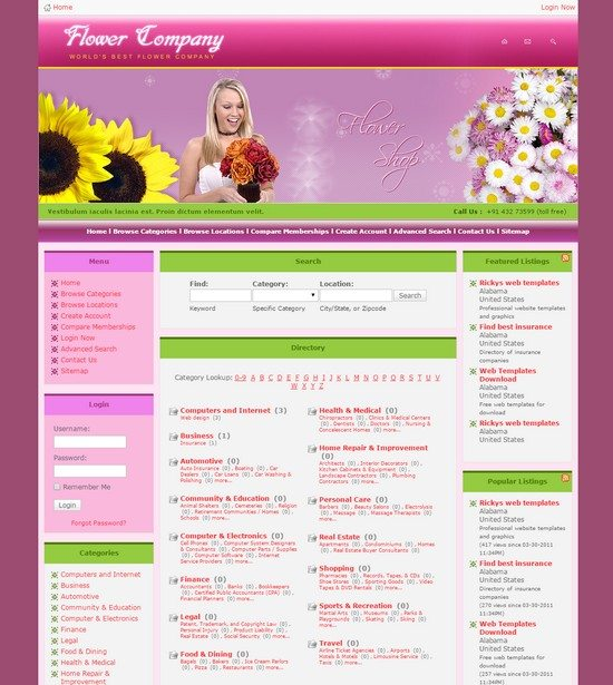 Ricky's free web templates